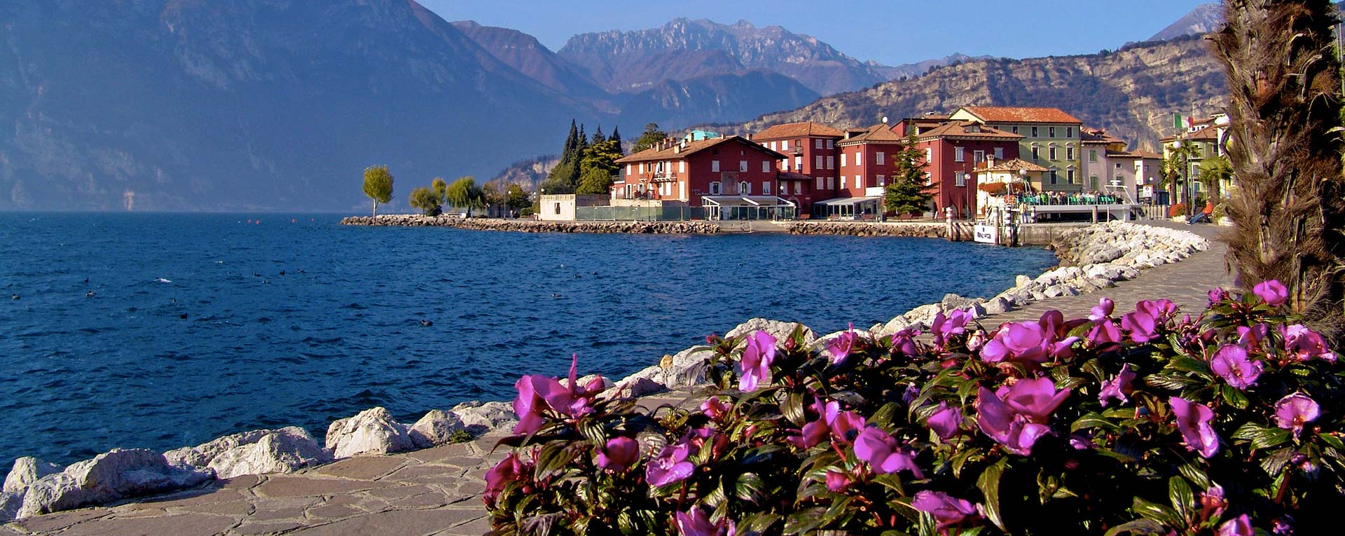 Torbole on Lake Garda at Easter time