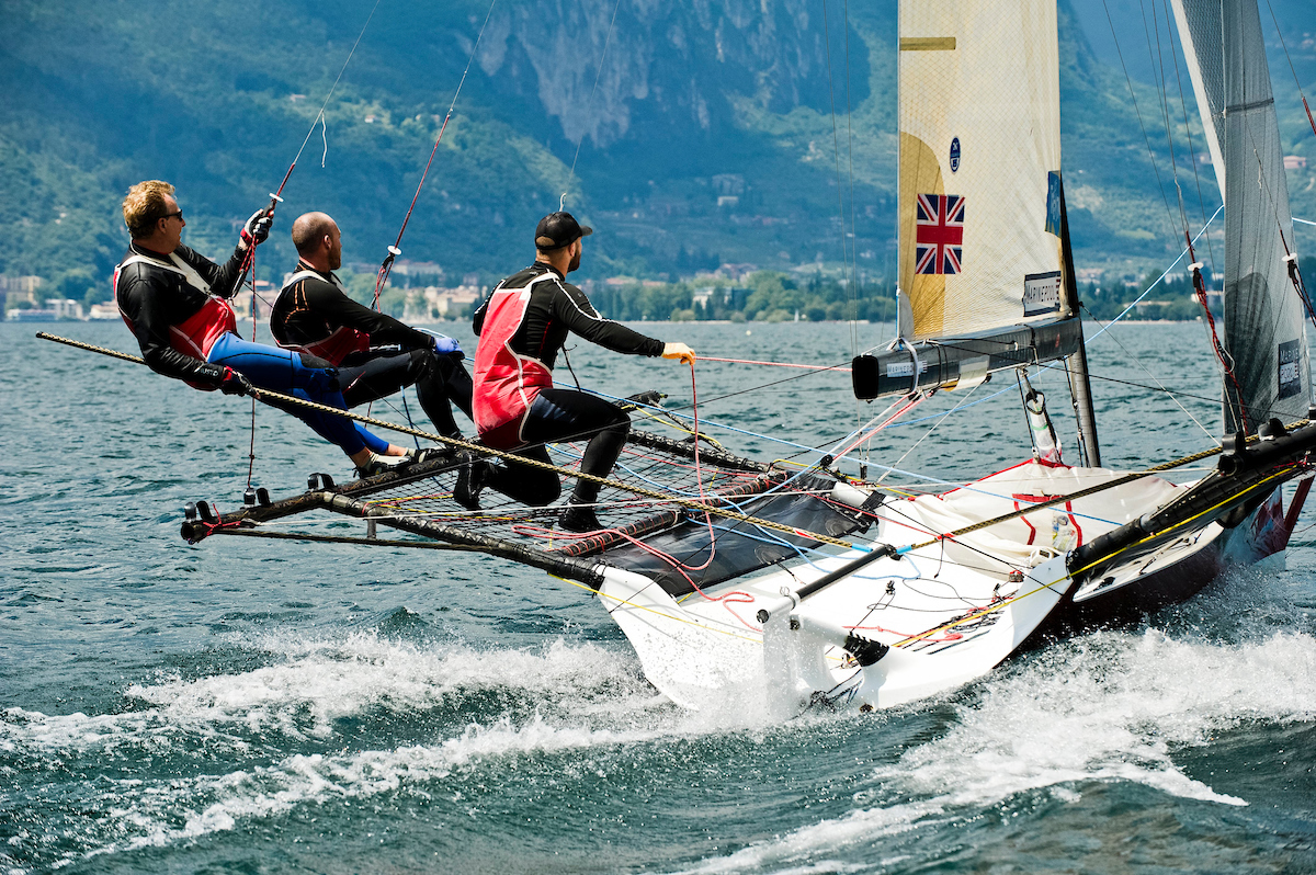 Sailing at Lake Garda